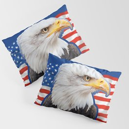 Patriotic Eagle 4th of July American Flag Pillow Sham
