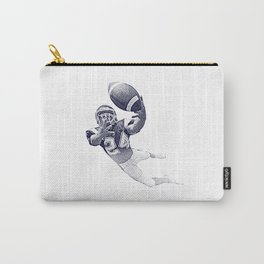 Football receiver making a fantastic catch. Carry-All Pouch