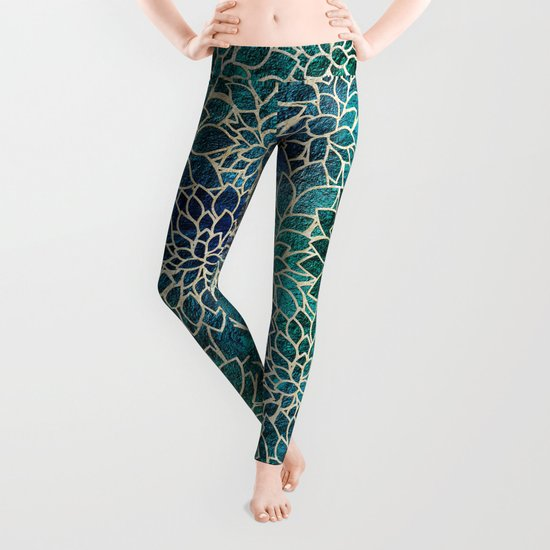 Floral Abstract 4 Leggings