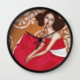 Claudia in Pink Wall Clock