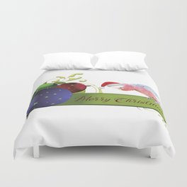 Merry Christmas from Charlie the Galah Duvet Cover