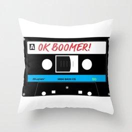 OK Boomer Audio Tape Throw Pillow