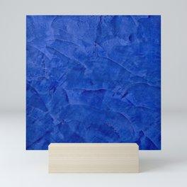 Dark Blue Ombre Burnished Stucco - Faux Finishes - Venetian Plaster - Corbin Henry Mini Art Print