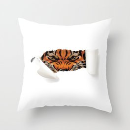 Angry Fox Throw Pillow
