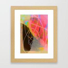 line is black Framed Art Print