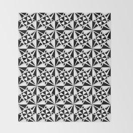 black and white symetric patterns 4- bw, mandala,geometric,rosace,harmony,star,symmetry Throw Blanket