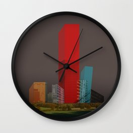 cube city Wall Clock
