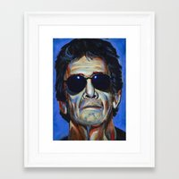 lou reed Framed Art Prints featuring Lou Reed by Buffalo Bonker