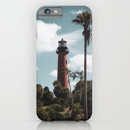 Jupiter Lighthouse Colorized Coastal Landscape Photo iPhone Case