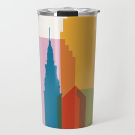 Shapes of Cleveland accurate to scale Travel Mug