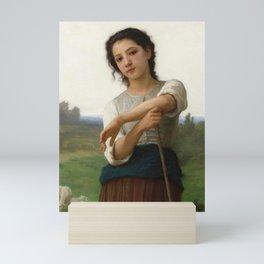 "William-Adolphe Bouguereau ""Young Shepherdess Standing"" Mini Art Print"