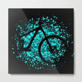 MTB Mountain Bike Mountainbike Cycling Gift for Cyclists Metal Print