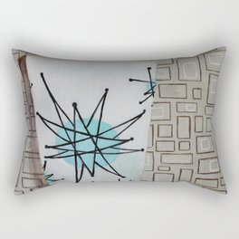 Atomic Starburst Retro Painting Rectangular Pillow