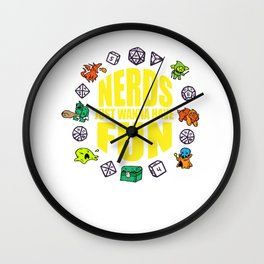 Nerdy geek fun RPG Gamer Dragon funny gift Wall Clock