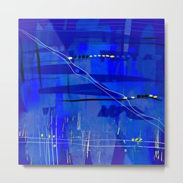 Blue mix Metal Print