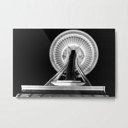 Space Needle - Black & White Metal Print