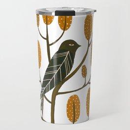 Swallow - golden brown Travel Mug