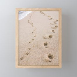 Footprints in the Sand Framed Mini Art Print