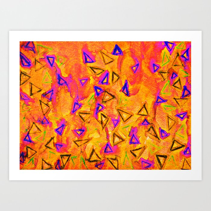 ANALOG zine - TECHNO VIBE 2 Collaboration Piece, Bold Colorful Abstract Watercolor Painting Music Art Print