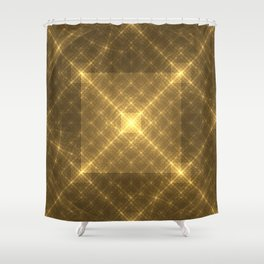 The Peaceful Pyramid Shower Curtain