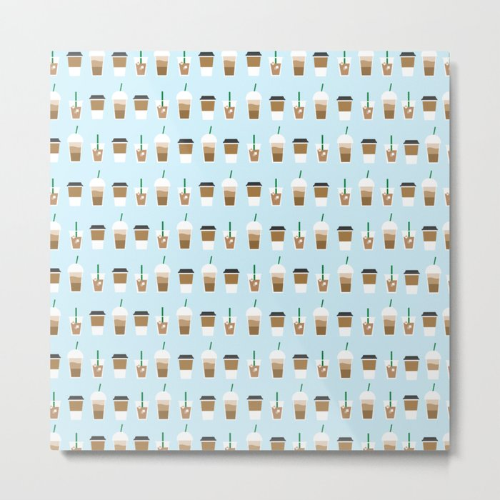 THAT COFFEE ((baby blue)) Metal Print