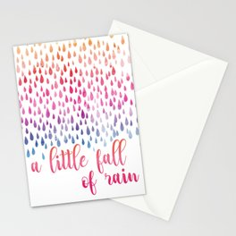 A Little Fall Of Rain Stationery Cards