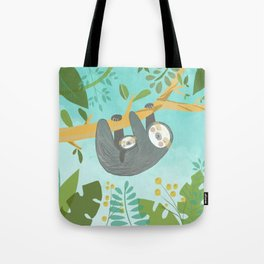 sloth family Tote Bag