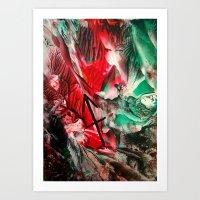 sagittarius Art Prints featuring Sagittarius  by ART de Luna