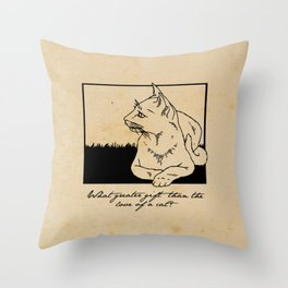 Charles Dickens - Love of a Cat Throw Pillow