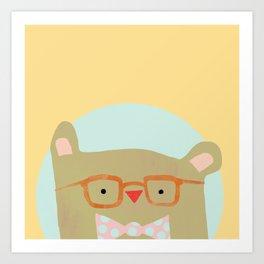 Bear in Specs Art Print