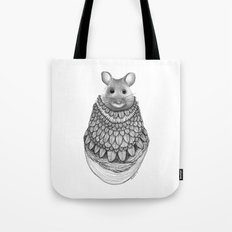The Mouse- Feathered Tote Bag