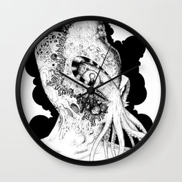 Minion of Cthulhu in Ceremonial Mask Wall Clock