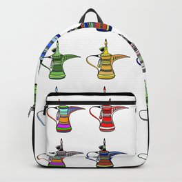 Colorful Arabia Coffee Pots Backpack