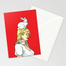 Fragile Girl Stationery Cards