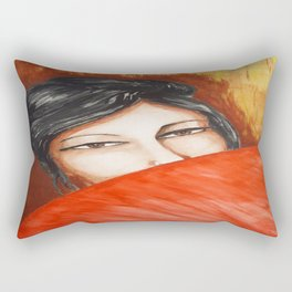 GEISHA WITH UMBRELLA Rectangular Pillow