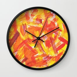 Forestfire Wall Clock