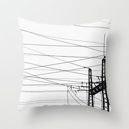 Electricity Plant Throw Pillow