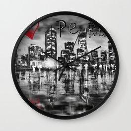 I love Perth Wall Clock