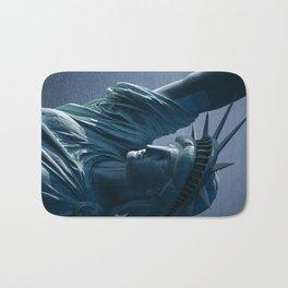 Statue of Liberty Closeup Photograph Bath Mat