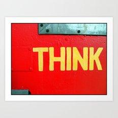Fine Art Photograph Called Think Art Print