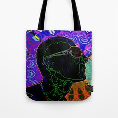 profile face abstract Tote Bag