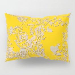 yellow tattoo Pillow Sham