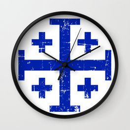 Jerusalem cross Wall Clock