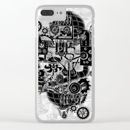 Hungry Gears (negative) Clear iPhone Case