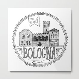 Palazzo Re Enzi, Bologna Metal Print
