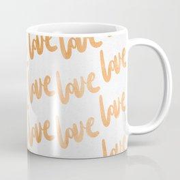 Love Gold Copper Bronze Pattern Coffee Mug