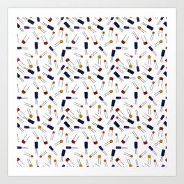 Capacitors - Color Art Print