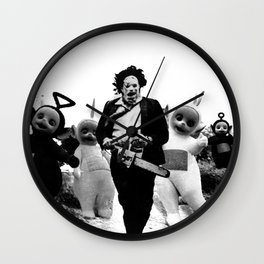 Leatherface with Teletubbies Wall Clock