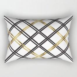 Crosshatch in Gold Rectangular Pillow