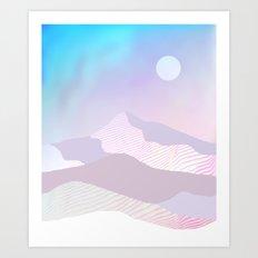 Dune Moon Art Print